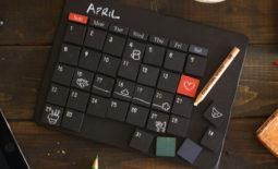 ミニ黒板万年カレンダー